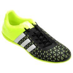f8e922576a Chuteira Adidas Ace 15 3 IN Futsal Verde e Preto