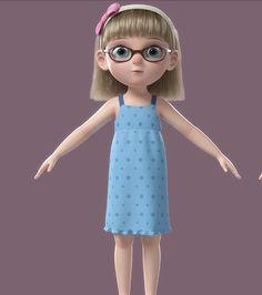 3D cartoon girl rigged - TurboSquid 1317956 Character Model Sheet, Character Modeling, 3d Character, Girl Cartoon Characters, 3d Cartoon, Little Girl Cartoon, Cartoon Girls, 3d Animation, Disney Cartoons