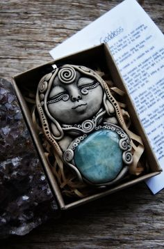 Luna Goddess Necklace, Moon Spirit, Handcrafted Clay, Lunar, Cosmic, Mystical, Moon Worship, New Age Jewelry, Symbolic, Moon Pendant.    If there is one