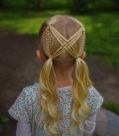 Ideas hair styles weave braids kids for 2019 Girls Hairdos, Cute Hairstyles For Kids, Baby Girl Hairstyles, Kids Braided Hairstyles, Girls Braids, Summer Hairstyles, Short Hairstyles, Toddler Hairstyles, Hairstyles Videos