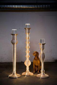 Light Troopers by Anki Gneib - Design Milk Lamp Design, Lighting Design Interior, Light, Lighting Inspiration, Diy Lighting, Cool Lighting, Floor Lamp Lighting, Lights, Design Milk