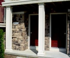 HB fiberglass porch columns, square columns and round columns and pillars - products for DIY, sold at home and lumber stores.