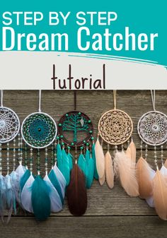 Check out this step by step tutorial and make a dream catcher in a day. Homemade Dream Catchers, Making Dream Catchers, Dream Catcher Craft, Dream Catcher White, Small Dream Catcher, Clay Pot Crafts, Shell Crafts, Potpourri, Diy Dream Catcher Tutorial
