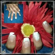 Wedding nails Handpainted nail art Bio Sculpture