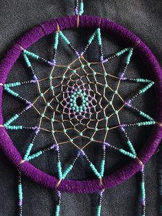 Dream Catchers With Beads beaded dreamcatcher in purple Native Pinterest Catcher 26