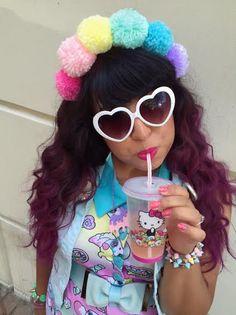 Pastel Rainbow Pom Pom Headband by messypink on Etsy https://www.etsy.com/uk/listing/178672139/pastel-rainbow-pom-pom-headband