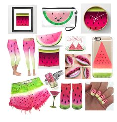 Watermelons by blackserpent on Polyvore featuring polyvore, fashion, style, Forever 21, Jupp Fine Jewellery and Casetify