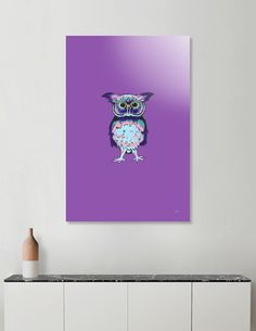 Discover «Small Owl Purple», Numbered Edition Acrylic Glass Print by Sartoris ART - From $75 - Curioos