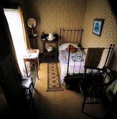 The Maid's room. Rear, third floor in a mansion built in 1857.