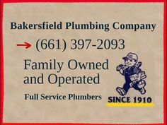 Bakersfield Plumbers (661) 397-2093, Bakersfield Plumber: https://www.youtube.com/watch?v=OR0UAvgnFik