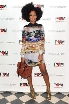 Solange Knowles, out and about (Rebecca Minkoff Party)
