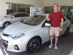 Our first 2014 Corolla off the lot! Congratulations to Victor! Welcome to the #DavidMausToyota family!