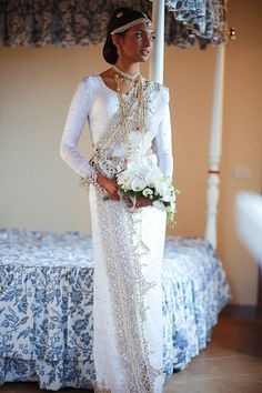 White fashion wedding