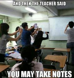 """Awesome, I wish I had a smartphone in high school.""  Parents had to physically write down the notes that the teachers would write on the board. This was back when mobile devices were not dependent or even invented to this extend of technology. Most parents would think this generation is lazy. But most students think that this is making them smarter."