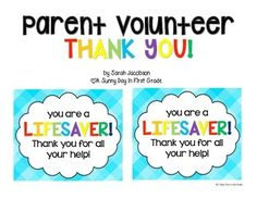 Attach this tag to a jar or coffee cup of Lifesavers and you have the perfect end of the year thank you gift for a volunteer!! :)