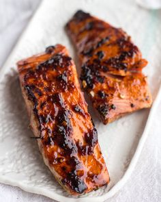 Hoisin Caramelized Salmon and Sesame Soba Noodle Bowls | halfbakedharvest.com just fr the salmon