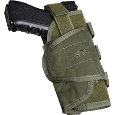 An adjustable tactical pistol holster that fits most handguns. PALS attachment, can be carried both on the belt or secured to tactical kit.
