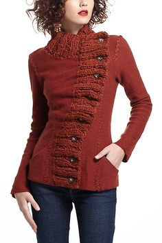 Anthropologie Transverse Placket Sweater...so incredibly beautiful! Wish I could knit!