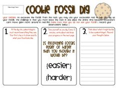 Cookie Fossil Dig Experiment (did this in 3rd Grade and the students loved it)!!! :D
