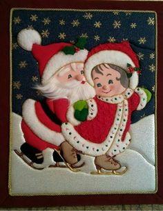 Christmas Sewing, Felt Christmas, Christmas Stockings, Christmas Ornaments, Kindergarten Christmas Crafts, 242, Christmas Table Decorations, Small Quilts, Winter Fun