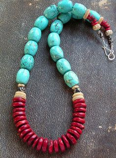 turquoise, coral, bone or sandstone