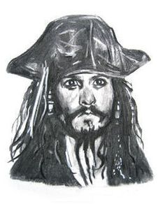 Drawings of famous people (johnny depp)