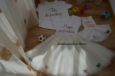 anniversary set - mother and baby tulle skirt & assorted shirts by LovelyhandmadeRaluca on Etsy
