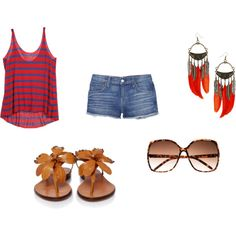 At the beach, created by hulbert on Polyvore