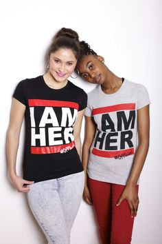 """I AM HER"" DMC Inspired Juniors Tee is for the girl who knows who she is, who knows who she is called to be and is unapologetic about her style. Juniors piece to be worn as a fitted tee for a trendy and stylish look."