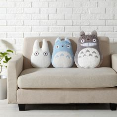 My Neighbour Totoro Cushion Decor Pillow Head Rest STUDIO GHIBLI Japan T3647