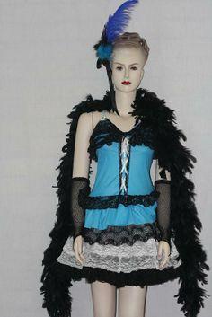 193aead277 Blue dress plus accessories. size 8-10 Burlesque   showgirl   saloon girl  Saloon
