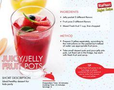 Jelly pots Chef Recipes, Cooking Recipes, Fruit Juice, Fresh Fruit, Dessert Pots, Pakistani Recipes, Tv Chefs, Kitchens