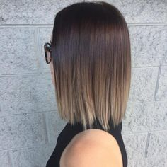 Top 34 Short Ombre Hair Ideas of 2019 - Hair - Hair Designs Chocolate Ombre Hair, Short Hair With Bangs, Shorter Hair, Short Hair Ombre Brown, Balayage On Short Hair, Straight Ombre Hair, Short Ombre Hairstyles, Light Brown Ombre Hair, Brown Hair