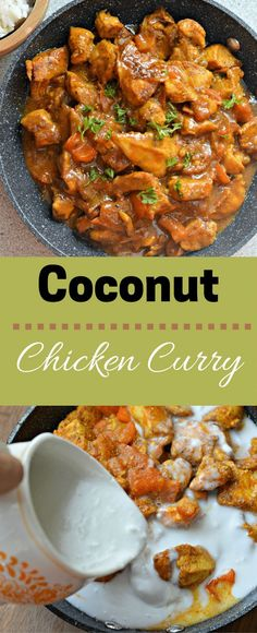 The Best Coconut Curry With Chicken- The 16 most delicious chicken recipes – DIY handyman - Indian Food Recipes, Asian Recipes, Healthy Recipes, Ethnic Recipes, Coconut Curry Chicken, Jamaican Curry Chicken, Curry Dishes, Le Diner, Vegetarian