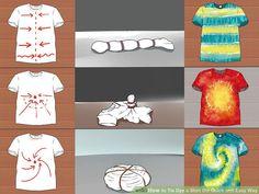 Image titled Tie Dye a Shirt the Quick and Easy Way Step 5 tye dye shirts easy Fête Tie Dye, Tie Dye Party, Kids Tie Dye, Shibori Tie Dye, How To Tie Dye, Tye Dye, Tie Dye Steps, Tie Dye Crumple, Diy Tie Dye Shirts