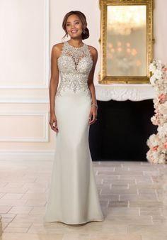Stella York 6651 Sheath Wedding Dress