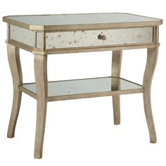 "NIGHTSTAND 28.5""H x 20.5""D x 32""W  $1050.40.  I just really like this.  It gives that tiny touch of distressed, aged glamour I'm sort of going for in the Master Bedroom"