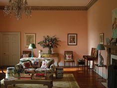 The pink sitting room, one of the first to be finished, was the site of the couple's wedding lunch.