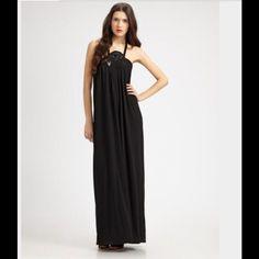 Leifsdottir Black Maxi Dress-Anthropologie