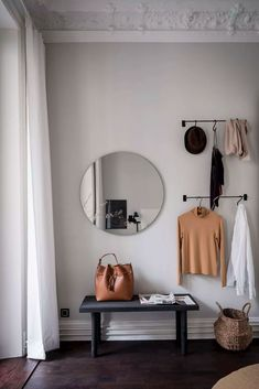 Tour a Refined Apartment With a Tasteful Blend of Styles Apartment Goals, Dream Apartment, Cute Room Ideas, Bedroom Inspo, Bedroom Decor, House Goals, Interior Styling, Entryway, Decorating Rooms