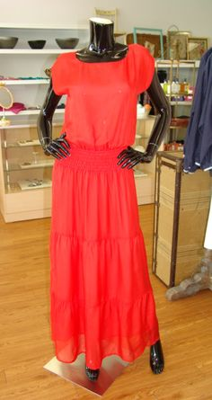 How perfect will this new coral Maxi dress from Jenny Han be for spring! We would pair it with a long gold or wooden necklace and some fun wedges!