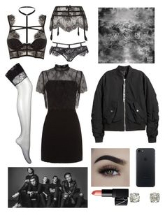 """""""A Little Death: Inspired by The Neighbourhood"""" by milkyspill ❤ liked on Polyvore featuring Agent Provocateur, La Perla, Sandro, H&M and NARS Cosmetics"""