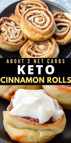 These are THE BEST Keto Cinnamon Rolls! Packed with cinnamon, nuts and keto friendly brown sugar these soft cinnamon rolls are the perfect keto treat! About 2 net carbs each WITH the cream cheese frosting! Ketogenic Recipes, Low Carb Recipes, Cooking Recipes, Ketogenic Diet, Dukan Diet, Vegan Recipes, Desserts Keto, Keto Snacks, Keto Friendly Desserts