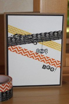 Halloween Tape It by kookies - Cards and Paper Crafts at Splitcoaststampers