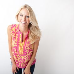 Sheridan French Etta Tunic in Pink & Yellow now available!