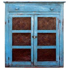 19th Century Pennsylvania Original Painted Pie Safe | From a unique collection of antique and modern painted furniture at http://www.1stdibs.com/furniture/folk-art/painted-furniture/