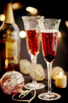Kir Royale - what better way to dress up a glass of bubbly to ring in the New Year? Photo by Jenn Oliver on Jenn Cuisine. @Jenn Cuisine