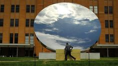Anish Kapoor's 'Sky Mirror' on display outside the MCA in Sydney