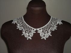 Vintage Guipure Swiss Lace Collars (Ivory / Off-white colour)
