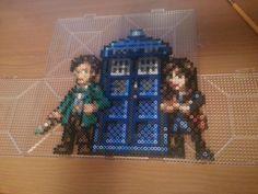 Doctor Who Team 2013 perler bead sprite by Bgoodfinger on deviantART